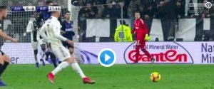 Cristiano Ronaldo show, doppio dribbling con il tacco ai danni di Skriniar (VIDEO)