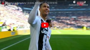Cristiano Ronaldo subito in gol in Juventus-Sampdoria, Audero sorpreso. VIDEO