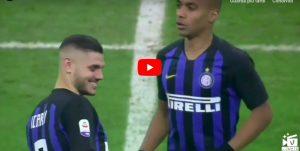 Inter-Napoli, VIDEO: Icardi colpisce traversa da centrocampo al calcio d'inizio