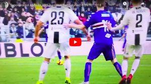 Juventus-Sampdoria 2-1, VIDEO: Saponara segna gol pazzesco ma arbitro annulla con VAR e vincono i bianconeri