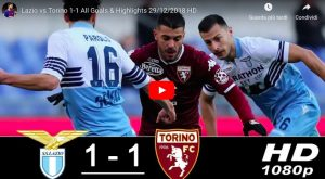 Lazio-Torino 1-1 highlights e VIDEO GOL: Milinkovic ha risposto a Belotti