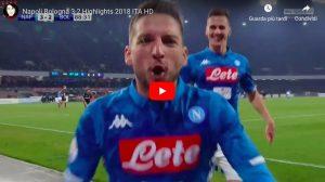 Mertens, occhio all'esultanza in Napoli-Bologna: ha dedicato il gol a Koulibaly. VIDEO