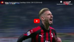 Milan-Spal 1-1, Castillejo ha risposto all'ex Petagna. VIDEO GOL