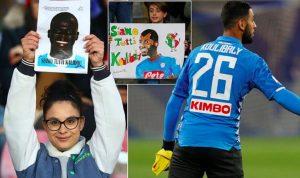 Napoli-Bologna, giocatori in campo con la maglia di Koulibaly. Sugli spalti 10.000 mascherine contro il razzismo