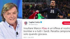 """Adriano Panatta, scivolone da tifoso della Roma: """"Sau sorcio nero"""". Cagliari si offende e replica: """"Ha insultato i sardi"""""""