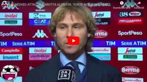 """YouTube, Nedved: """"Marotta-Inter? E' un professionista ma non è mai stato juventino..."""""""