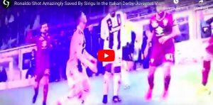 YouTube, parata miracolosa di Sirigu su Cristiano Ronaldo (VIDEO). Il portiere si fa male ed esce per infortunio