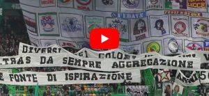 """YouTube, la """"Torcida Verde"""" dello Sporting Lisbona rende omaggio agli ultras italiani (VIDEO)"""