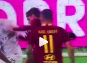 Roma-Inter, VIDEO: Zaniolo steso da D'Ambrosio, rigore negato. Nerazzurri ripartono e segnano