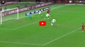 Zaniolo VIDEO GOL Roma-Sassuolo, cucchiaio alla Francesco Totti