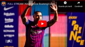 YouTube, Kevin Prince Boateng-Barcellona: il VIDEO con la presentazione