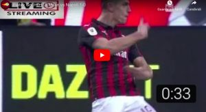 Piatek video gol Milan-Napoli 2-0 di Coppa Italia, doppietta decisiva