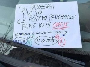 cartello auto roma facebook