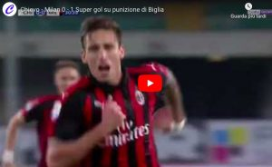 YouTube, Chievo-Milan 1-2 highlights, Biglia video gol