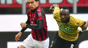 Paqueta, infortunio in Milan-Udinese: fuori per movimento innaturale con la caviglia destra
