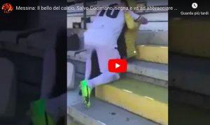 Salvatore Cocimano segna e va ad abbracciare la mamma malata. VIDEO
