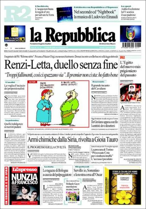 Renzi-Letta, rimborsi Piemonte, mini-Imu: rassegna stampa del 17 gennaio
