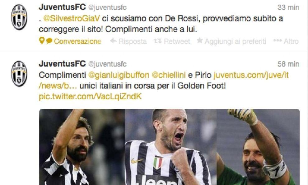 Golden Foot, la Juve si dimentica De Rossi...