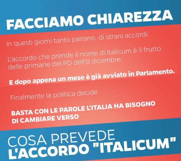 L.elettorale: Renzi,nessuno strano accordo,è frutto primarie