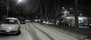 La polvere in strada che a Milano sembra neve