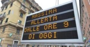 Liguria, maltempo e frane. Chiuse l'Aurelia a Bordighera