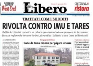"""Maurizio Belpietro su Libero: """"Rivolta contro Imu e Tares"""""""