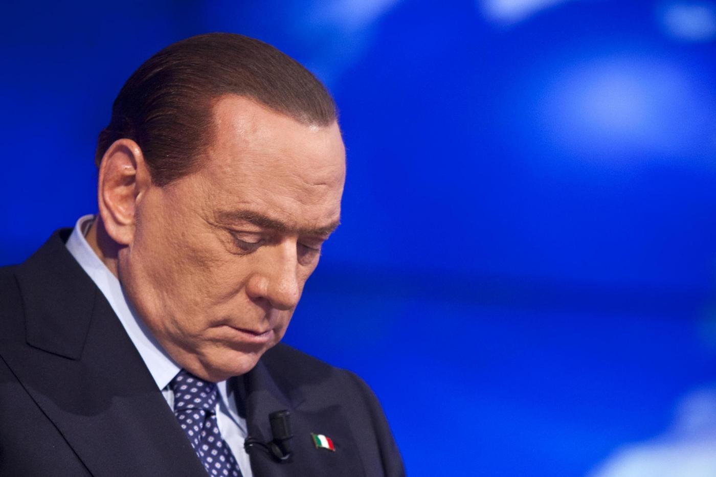 """Berlusconi: """"Necessario bipolarismo. Con il 36 per cento si arriverà al 51"""""""""""
