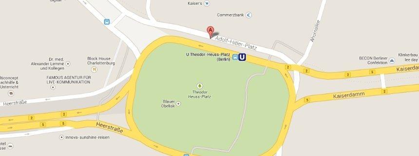 """A Berlino torna """"piazza Adolf Hitler"""": l'errore di Google Maps"""