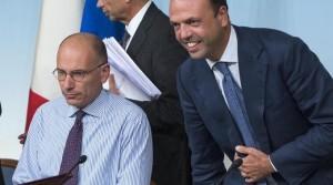 """Alfano: """"Il Pd decida chi comanda. Letta faccia il rimpasto, basta ipocrisie"""""""