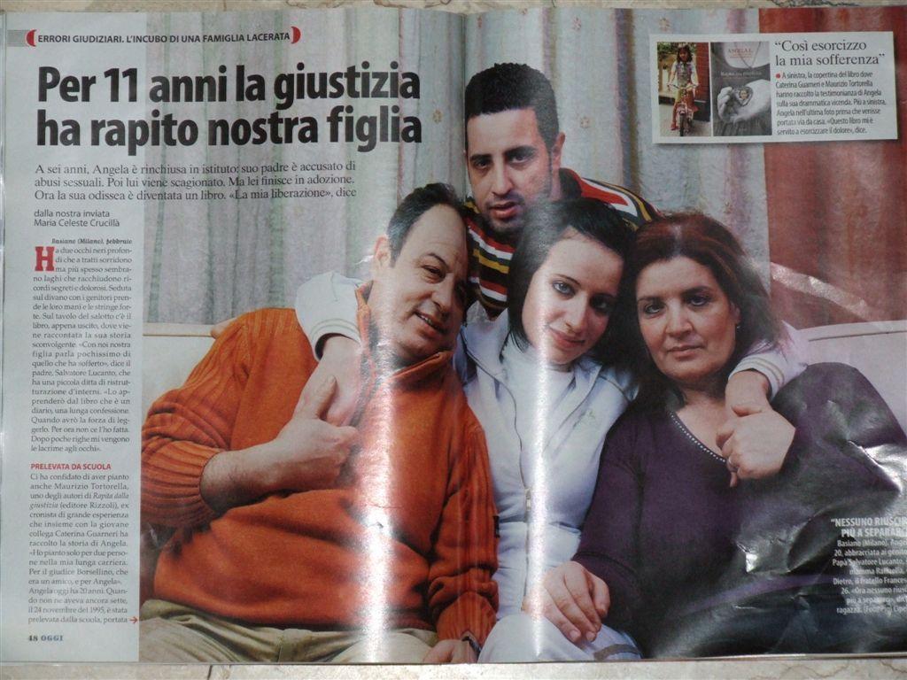 """Angela Lucanto, storia kafkiana di una bimba """"Rapita dalla giustizia"""""""