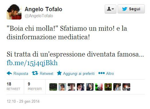 """M5s, Angelo Tofalo: """"Boia chi molla? Vi spiego cosa vuol dire"""""""