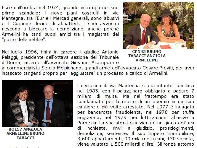 """Bruno Tabacci: """"Io e Angiola Armellini? Ma non è mica Ruby..."""""""