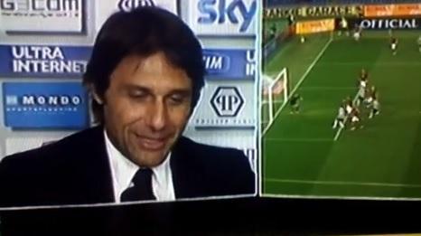 """Conte: """"Gol Peluso? I giocatori della Roma sono a testa bassa, non ci sono alze"""""""