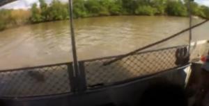 Coccodrillo attacca la giuda turistica durante la gita sul fiume