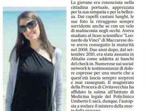 Azzurra Matiddi, hostess trovata morta a Fiumicino. L'autopsia: cause naturali