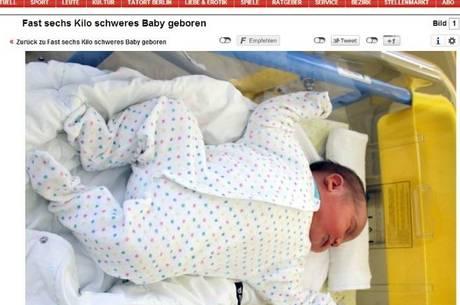 La prima foto del bebè gigante