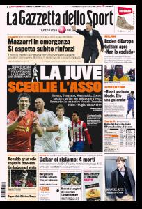 Calciomercato Juventus: Suarez, Costa, Benzema, Mandzukic. Caccia a un big (Gazzetta dello Sport)