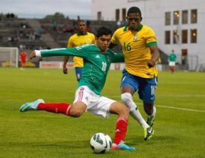 Abner con la maglia del Brasile contro il Messico (LaPresse)