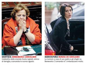 Letta vuole il rimpasto o il bis. Renzi solo la testa di Cancellieri e De Girolamo