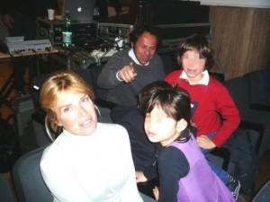Alexia Canestrari con la famiglia