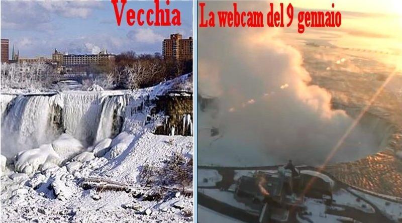 """Cascate del Niagara ghiacciate dal """"polar vortex""""? Solo una bufala"""
