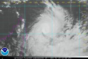 Il ciclone visto dal satellite