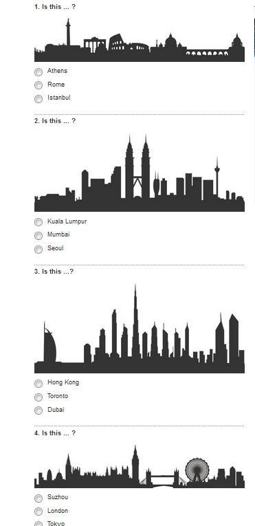 Quiz: riesci a riconoscere una città dal profilo dei suoi monumenti?