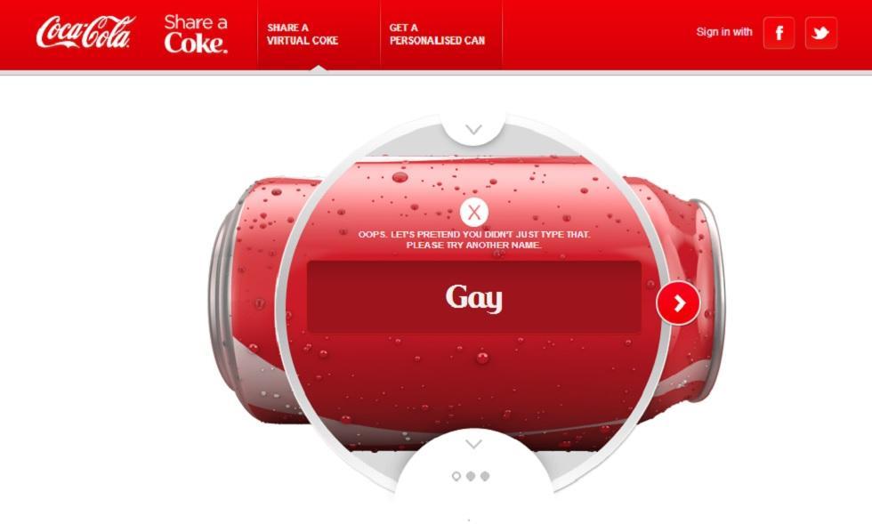 coca cola censura parola gay