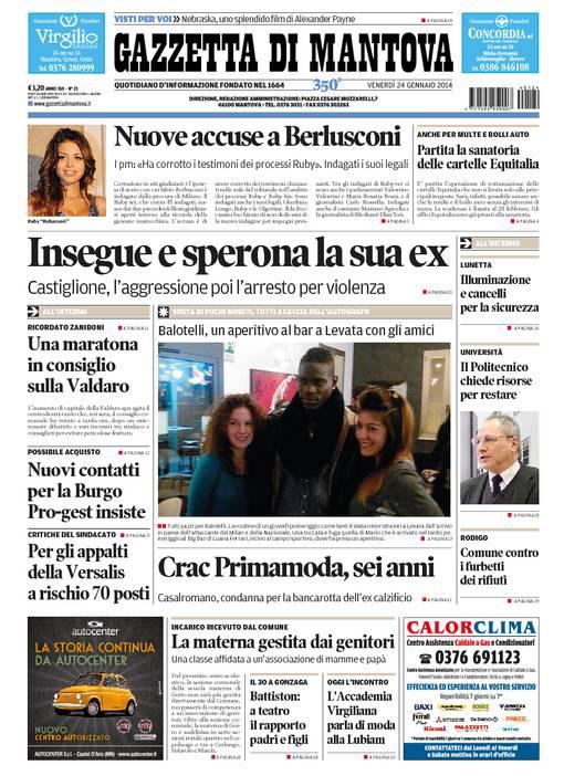 La rassegna stampa locale del 24 gennaio 2014