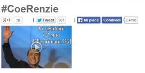 """Beppe Grillo a Matteo Renzi, #CoRenzie: """"Crede di averlo più grosso di tutti"""""""
