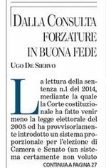 Dalla Consulta forzature in buona fede Ugo De Siervo
