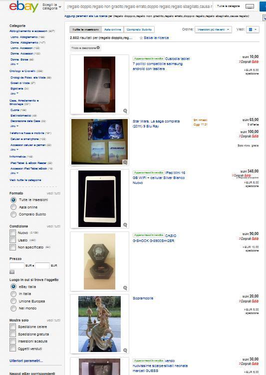 Regali sgraditi, sbagliati, ripetuti? Li puoi vendere su Ebay. Si fa così...