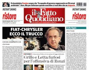 """Marco Travaglio sul Fatto Quotidiano: """"Colle Oppio"""""""