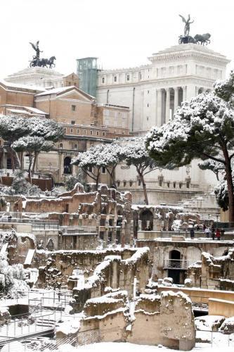 Neve a Roma nel 2012
